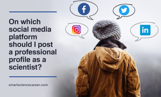 On which social media platform should I post a professional profile as a scientist?