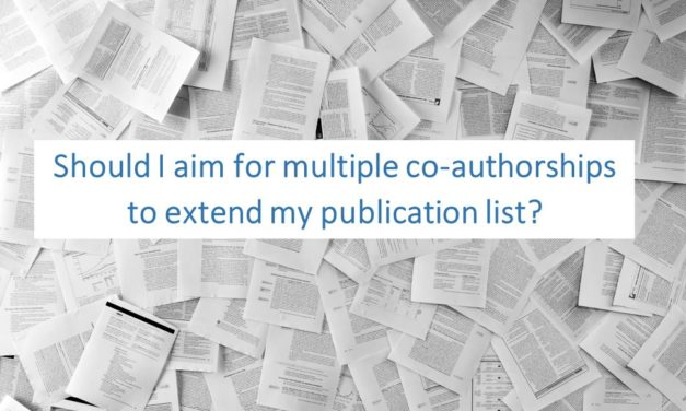 Should I aim for multiple co-authorships to extend my publication list?