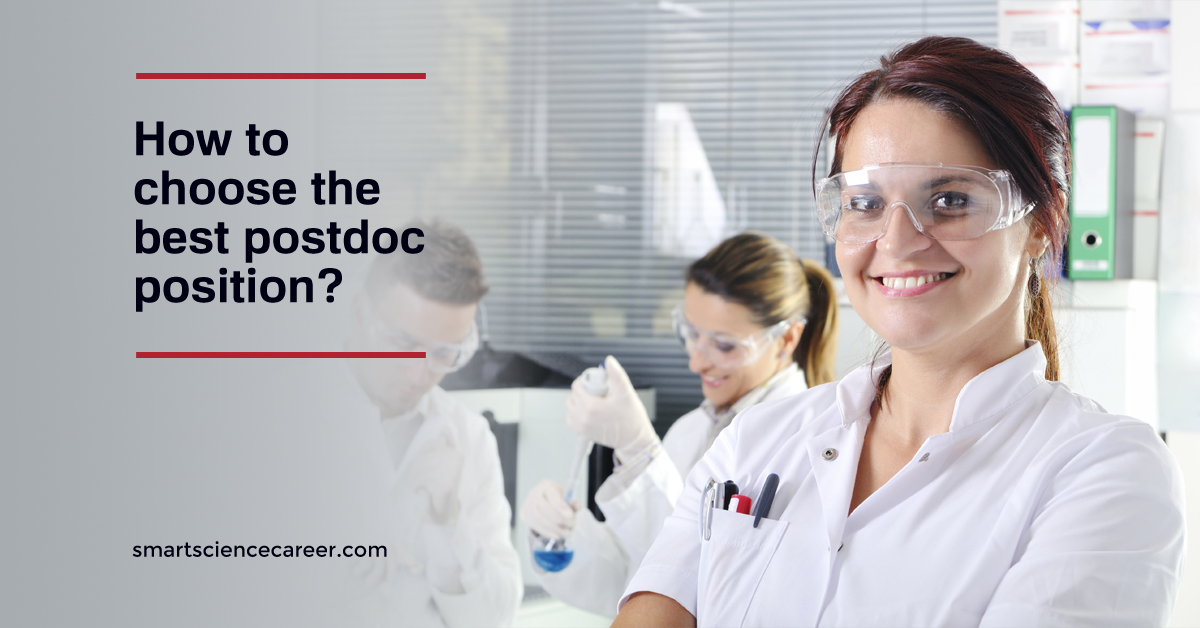 How to choose the best postdoc position?