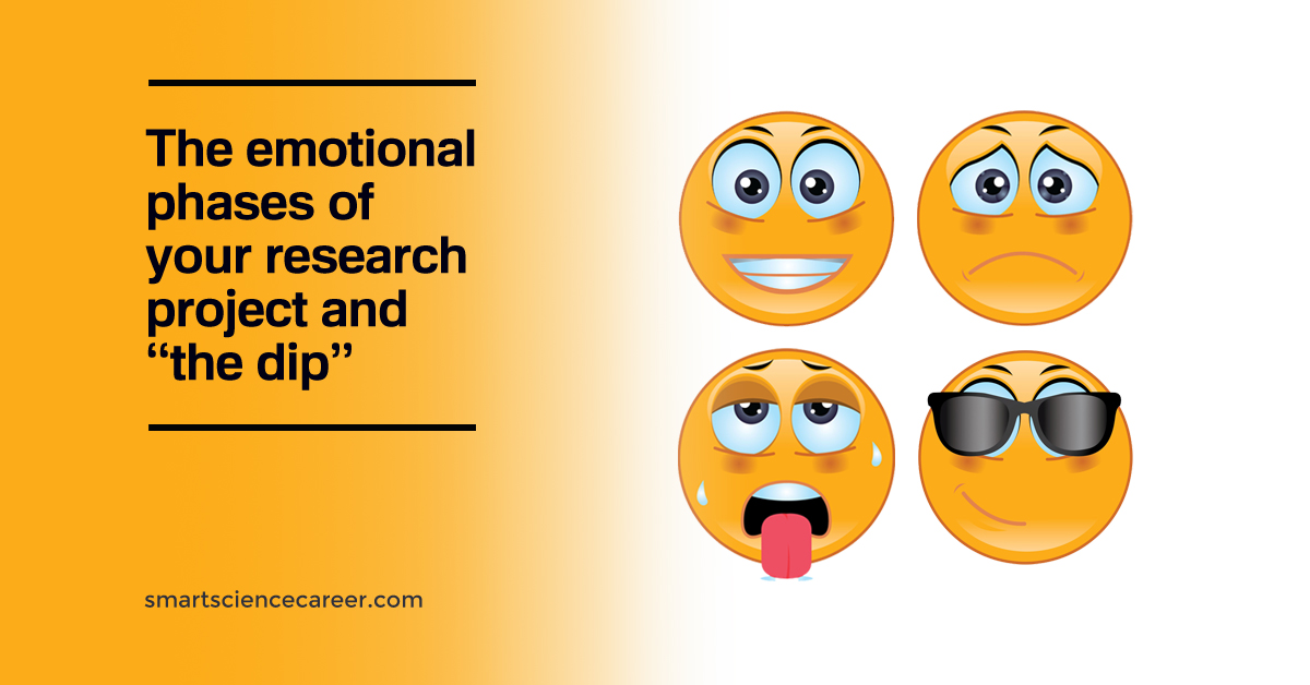 "The emotional phases of your research project and ""The Dip"""