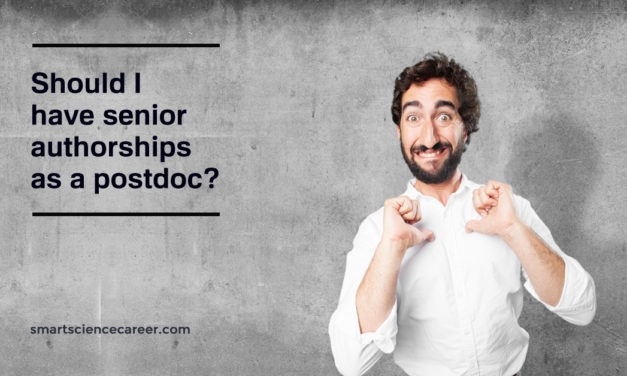 Should I have senior authorships as a postdoc?